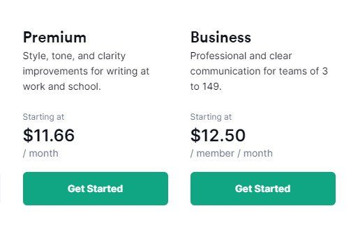 Grammarly premium regular price